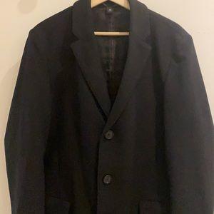 Hugo Boss Wool Cashmere Black Coat